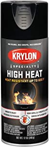 Krylon K01618777 High Heat Satin Black