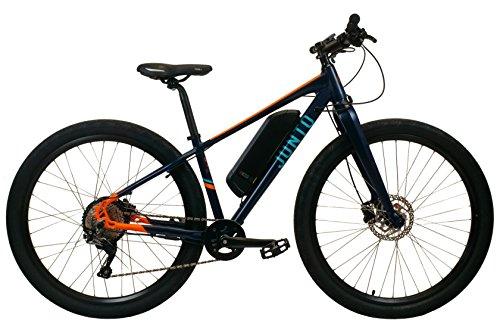 "Junto Electric Bicycle 29"" wheels, 48V 350W motor, 11.6Ah battery Shimano SLX drivetrain – Tough Commuter E-bike that ships 98% assembled (Blue Orange, Small) Review"