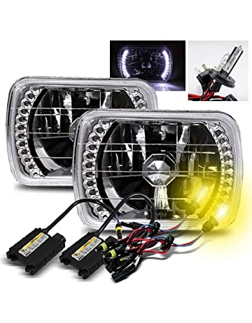 amazon com hid kits lighting conversion kits automotive modifystreet 3000k yellow h4 2 low beam xenon high beam halogen slim hid