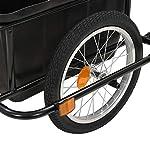 Tidyard-Rimorchio-Bicicletta-per-Il-Trasporto-di-Oggetti-e-Materiali-Carrello-Bicicletta-Rimorchio-capacit-di-Carico-di-150-kg-142x71x83-cm-50-L-Nero