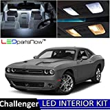 turbo kit dodge challenger - LEDpartsNow 2018 Dodge Challenger LED Interior Lights Accessories Replacement Package Kit (9 Pieces), WHITE