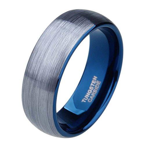 Silver Brushed Tungsten Carbide Wedding