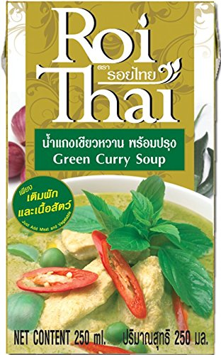 ROI THAI, Ready to cook, Thai Green curry sauce, Simmer sauce, Instant curry sauce, Curry paste with coconut milk, Thai food, 8.4 OZ (Pack of (Thai Green Curry Sauce)