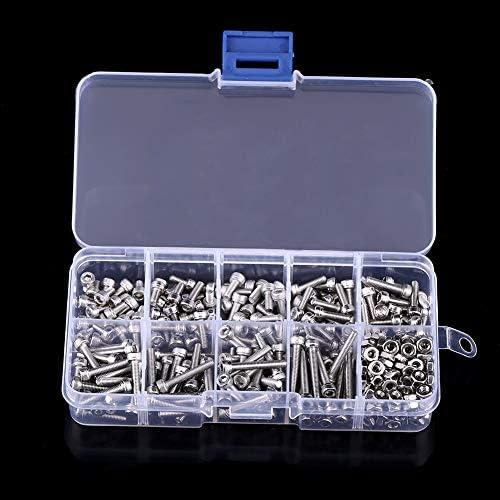 工具 340PCS DIN912六角穴付ボルトナットM3ステンレス鋼キャップヘッドねじセット DIY 作業工具