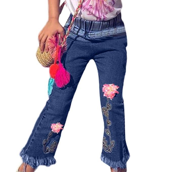 Mujer Pantalones Tallas Grandes Elasticos Patchwork Campana ...