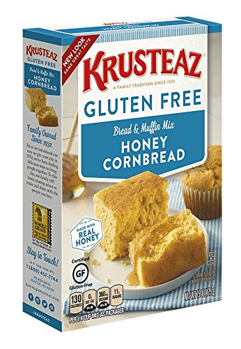 Krusteaz Gluten Free Honey Cornbread Mix, 15-Ounce Box -