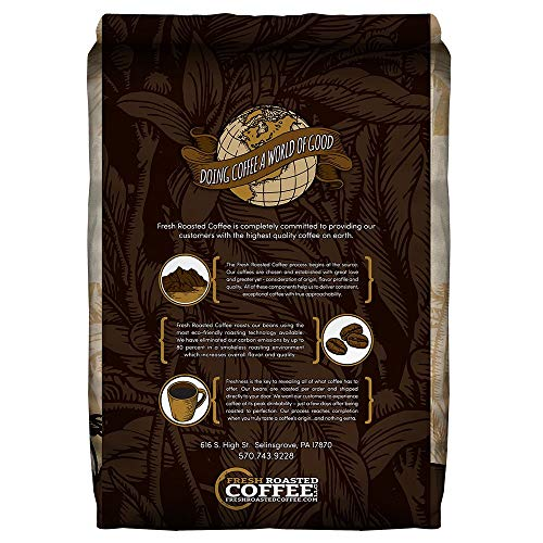Organic Sumatra Swiss Water Decaf Coffee, Fair Trade, Whole Bean Bag, Fresh Roasted Coffee LLC. (2 LB.)