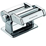 Ovente PA515S Vintage Stainless Steel Pasta Maker, Polished Chrome