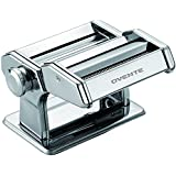 Ovente PA515S Vintage Stainless Steel Pasta Maker, 150mm, Polished Chrome