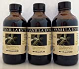 Bakto Flavors Pure Vanilla Extract - Madagascar -4 OZ (Pack of 3)