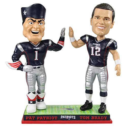 Nfl Mascot - Tom Brady New England Patriots Tom Brady High Fiving Mascot Bobblehead NFL