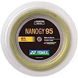 ヨネックス(YONEX) バドミントン ストリング NANOGY95 ロール 200m コスミックゴールド NBG952