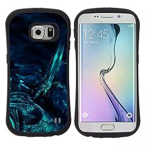 """Hypernova Slim Fit Dual Barniz Protector Caso Case Funda Para Samsung Galaxy S6 EDGE [Submarino Noche Oscura Arte Buceo""""]"""