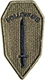 FOLLOW ME Infantry School US Army Military Logo Tab Jacket Uniform Patch Sew Iron on Embroidered Sign Badge Costume