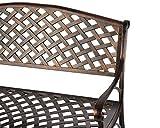 Patio Sense Cast Aluminum Patio Bench | Antique