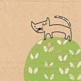 Celebrate the Home Brown Paper 3-Ply Paper Cocktail Napkins, Climbing Cat, 20 Count