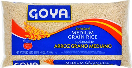 Goya Foods Medium Grain Rice, 3 Pound (pack of 20) by Goya
