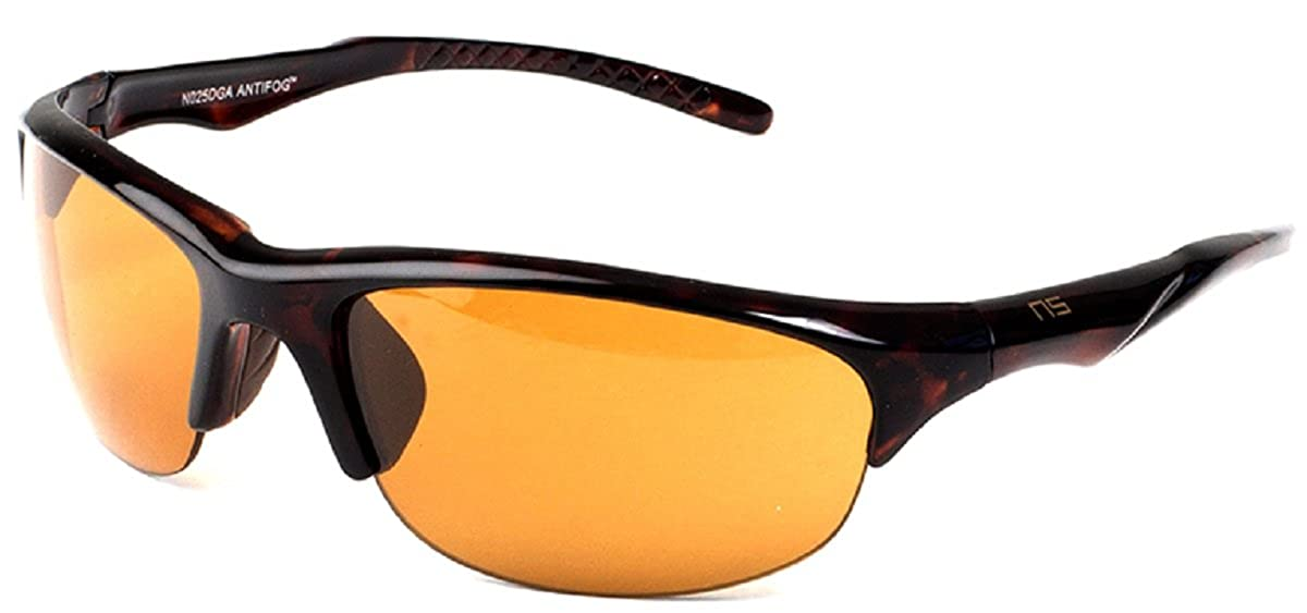 Naute Sport Hope Anti-Fog Tortoise Frame Amber Lens Sunglasses 60mm