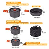 REDCAMP 23 PCS Camping Cookware Set for