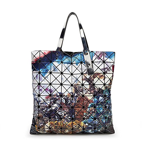 Geometría Bolsos de mujer Bolsos de diseño Top Handle Patchwork Bolso Mujer Sac1 2