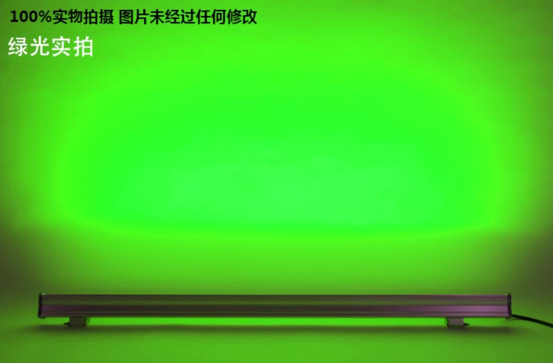 A1 LED wash wall lamp power 18W24W36W waterproof outdoor lamp color colorful lights FG195 ( Color : GREEN light 24W )