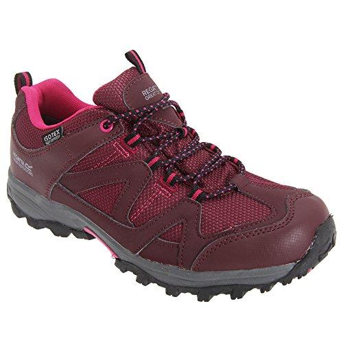 Regatta Boys Gatlin Low Isotex Waterproof Walking Shoes Fig / Vivacious