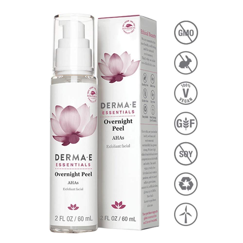 DERMA E Overnight Peel with Alpha Hydroxy Acids 2oz 030985003345