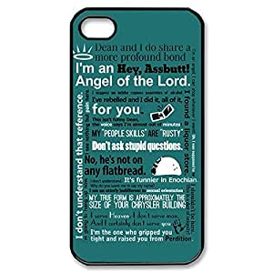 iphone covers care Fancy test SPN Supernatural - Gabriel Quotes Lightweight Printed Hard Plastic case Snap-on should cover for iphone then 5c 4g- Black 021302