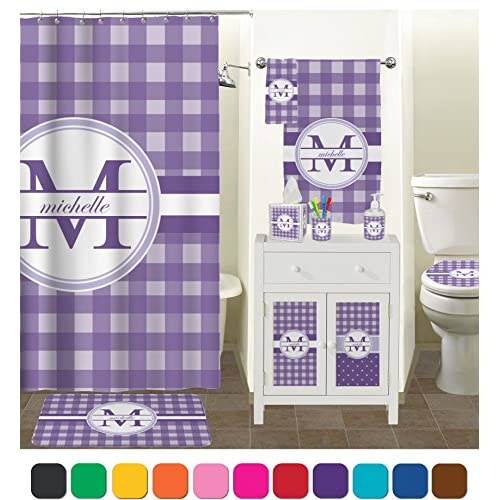 Gingham Print Toilet Seat Decal - Round (Personalized) durable modeling