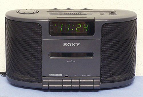 Sony Dream Machine Dual Alarm Clock Radio Cassette Tape Player Stereo Icf-cs650