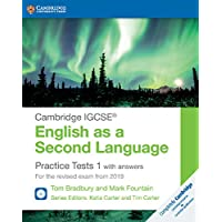 Cambridge IGCSE (R) English as a Second Language Practice Tests 1 with Answers and Audio CDs (2): For the Revised Exam from 2019