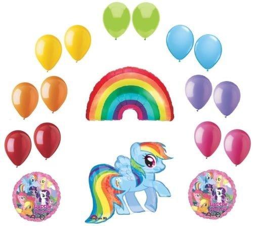 LoonBalloon MY LITTLE PONY & Rainbow DASH (18) Birthday Party Mylar & Latex Decor Balloons