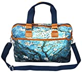 Meffort Inc 19 Inch Printed Canvas Luggage Sports Duffel Bag / Travel Carry on Bag - Almond Blossom