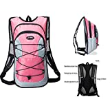Hydration Backpack With Water Bladder(70 Oz/2L) Cooling Towel 3 in 1,Thermal Insulation Pack Keeps Liquid Cool up to 4 H,for Cycling,Climbing,Hiking&Camping ,Skiing by Yesing (Pink)