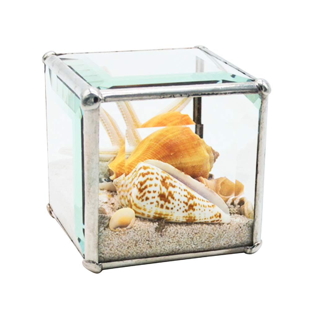Christina Home Designs Beach Gifts - Mini 3'' Beach Kaleidoscope Cube - Small Collectable Ocean Sand Theme, Coastal Decor for Bathroom, Accessories, Essentials - Compact Vacation Gift Ideas for Women