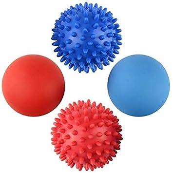 Juego de 4 bolas PAMASE, para masaje, profunda presión de tejidos musculares, alivio de estrés: Amazon.es: Deportes y aire libre