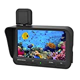 """LeaningTech X2B 4.3"""" Inch Color LCD Fish Finder Underwater Video Camera, Waterproof Night Vision HD Monitor, DVR Video, with 20m Cable and a Pair of Battery, Black"""