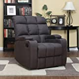 ProLounger RCL16-AAA85 Storage Arm Wall Hugger Microfiber Recliner, Charcoal Gray