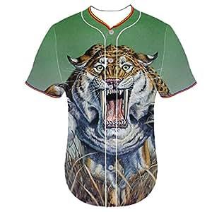 3d printed cat shirt jerseys Sword tooth tiger aaag Mens Feusen 3D Printing Customized Baseball Team Jersey Arc Bottom Shirt