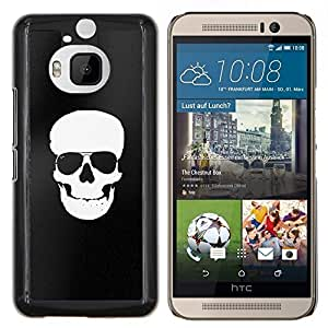 For HTC One M9+ / M9 PLUS - WHITE BLACK FLAG PIRATE SKULL DEATH /Caja protectora de pl???¡¯????stico duro de la cubierta Dise???¡¯???¡Ào Slim Fit/ - Super