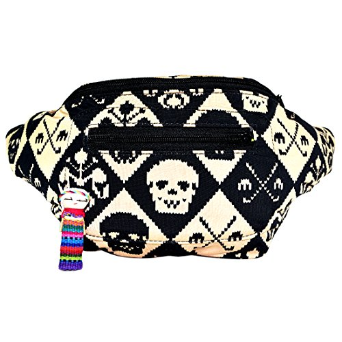 Funky Smuggler's Fanny Pack, Hidden Pocket, Party, Boho Chic & Handmade (Juan Calavera) by Santa Playa