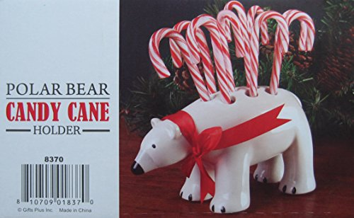 Polar Bear Candy Cane Pen Pencil Holder (Bears Cane Candy)