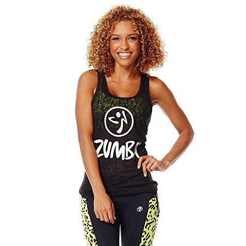 Zumba Fitness Women's Don't Burst My Bubble Tank Top, Back to Black, Small