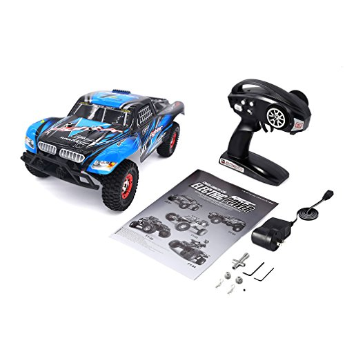 Course 4wd Truck Short - Tecesy 25+MPH Off-Road Rock Crawler Electric 2.4G Radio Control RC Desert Buggy 4WD Short Course Truck (Blue)