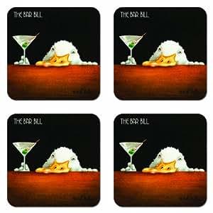 Paperproducts Design Bar Bill Coasters, Set of 4