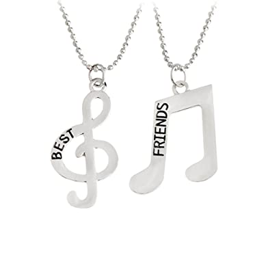 Amazon Music Note Symbol Bff Best Friends Friendship Necklace
