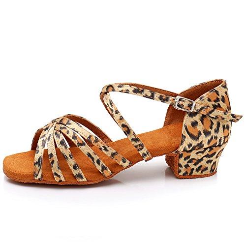 Latine Modle Salle Bal Chaussures Leopard Filles Ykxlm Standard Femmes Danse Uklp1202 Et De Pour xnnPCBAa