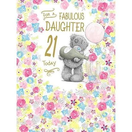Me To You Bear Hija 21 cumpleaños grande a mí Tarjeta del oso ...