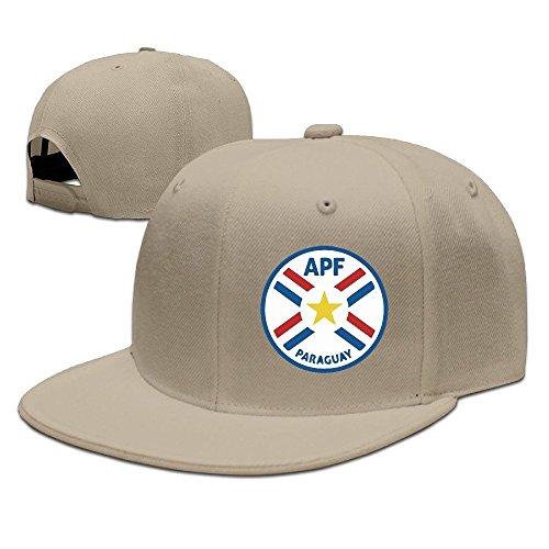 MaNeg Paraguay Soccer Team Unisex Fashion Cool Adjustable Snapback Baseball Cap Hat One Size - Seattle Store Versace