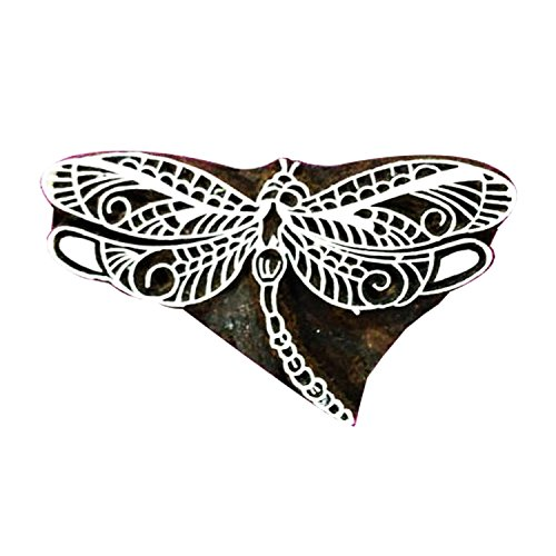 Dragonfly Wooden Printing Blocks Textile Stamp for Craft Scrapbook Clay Project Tattoo Pottery by CraftyArt